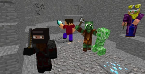 screenshot of Minecraft online