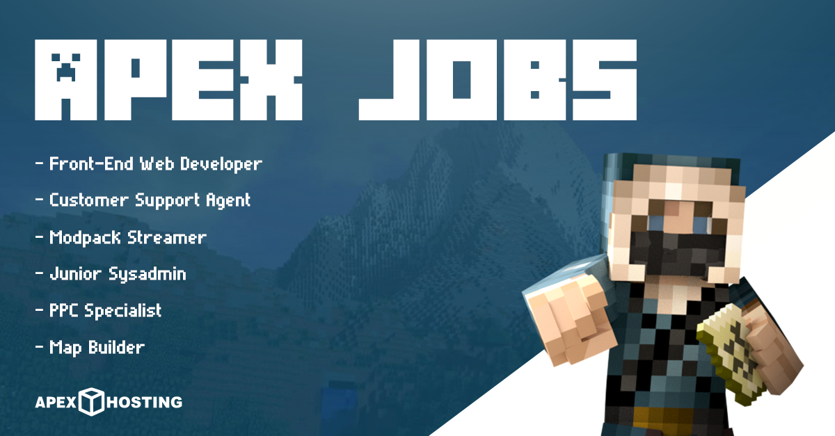 Jobs Available at Apex Hosting
