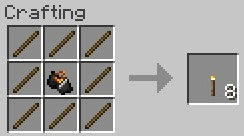 torch crafting recipe