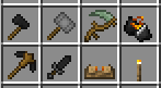 minecraft wood tools