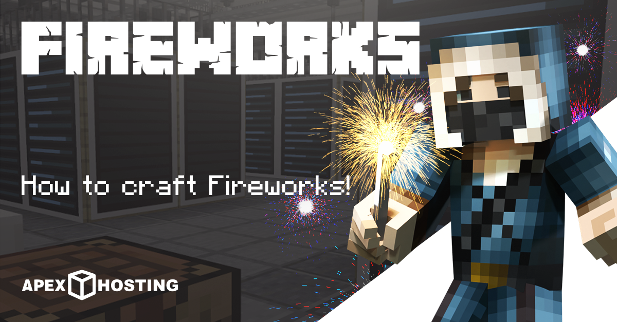 How to craft fireworks in Minecraft