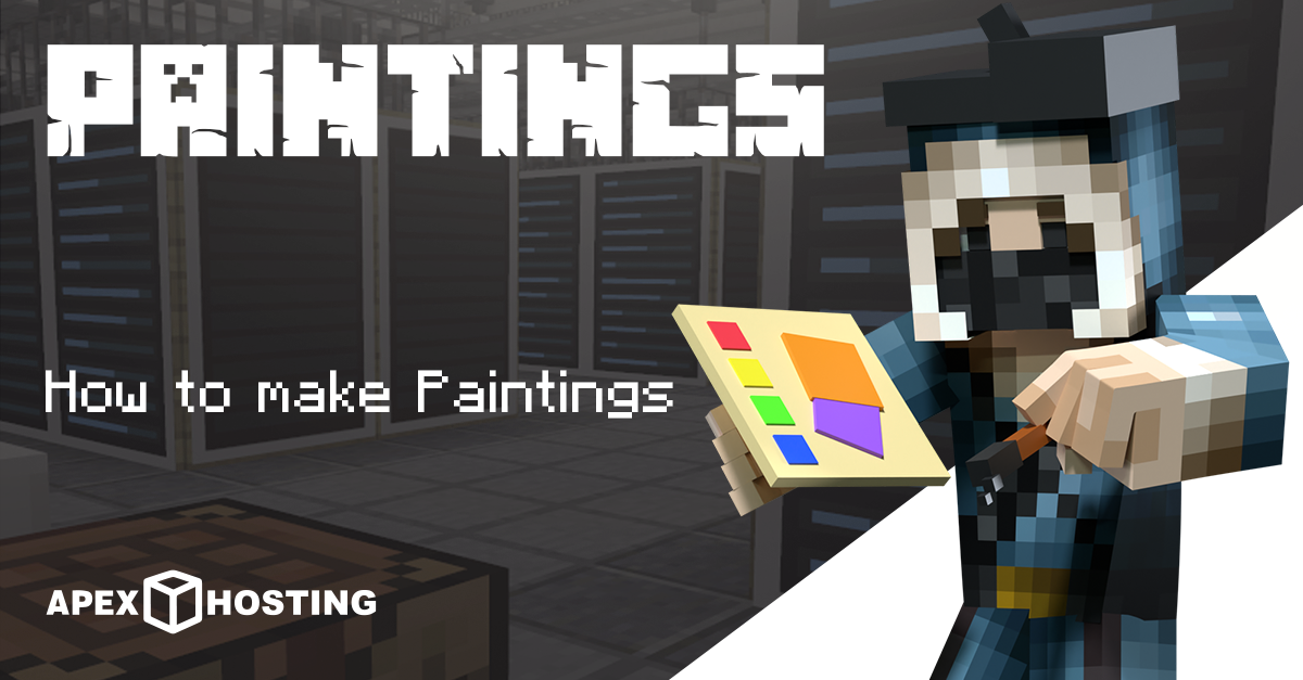 how to make paintings in Minecraft